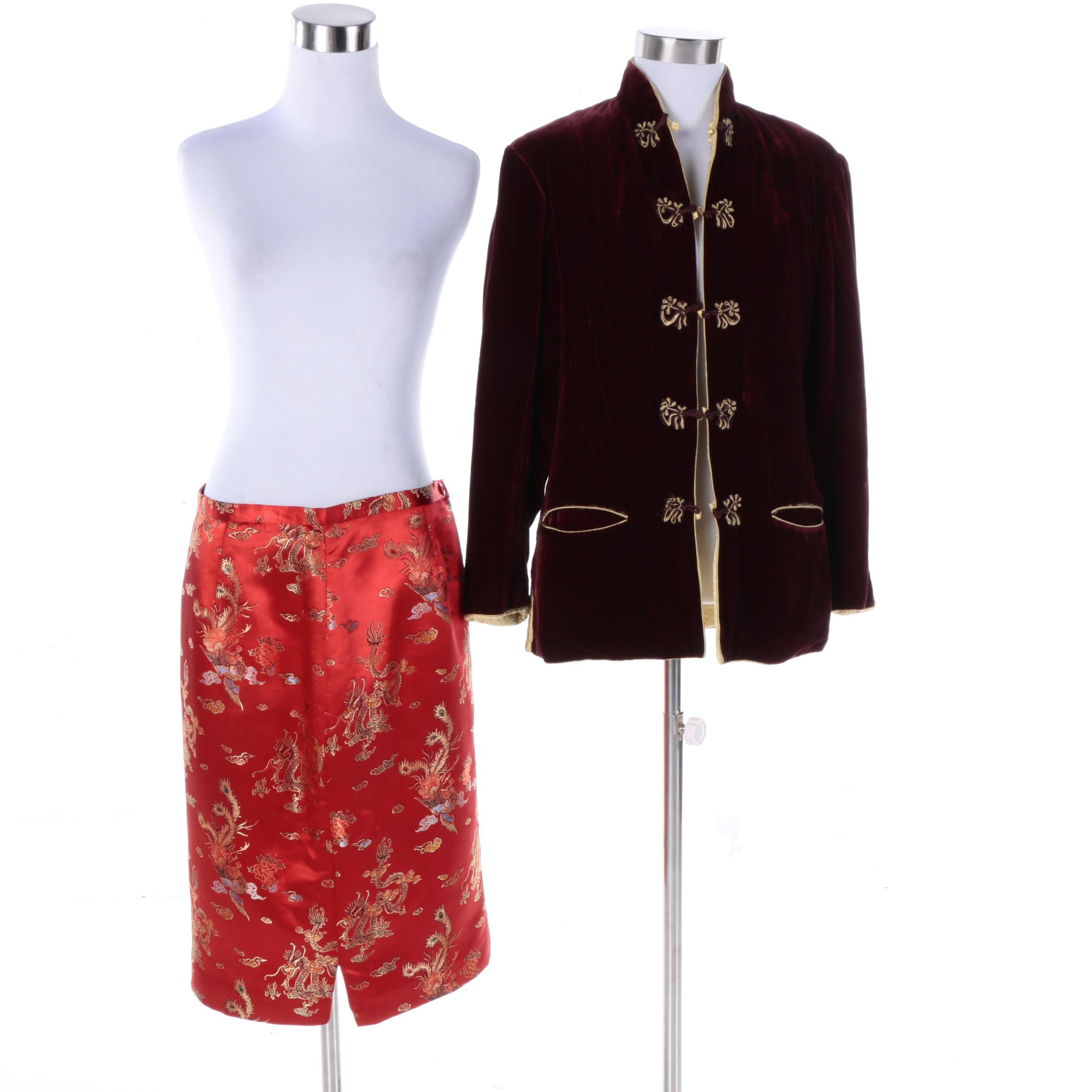 Women's Asian Inspired Clothing Including Donna Rae of New York