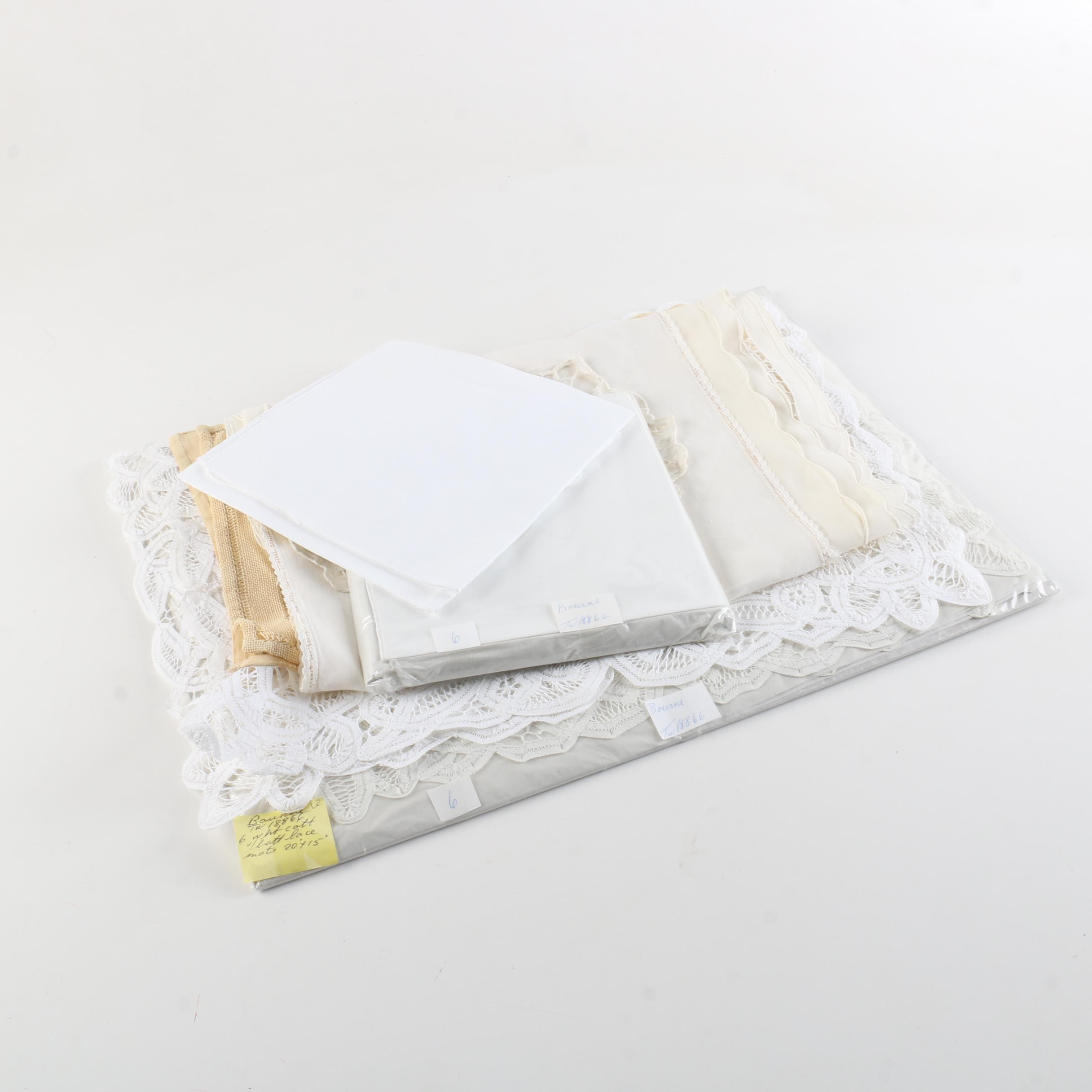 Lace-Trimmed and Embroidered Table Linens