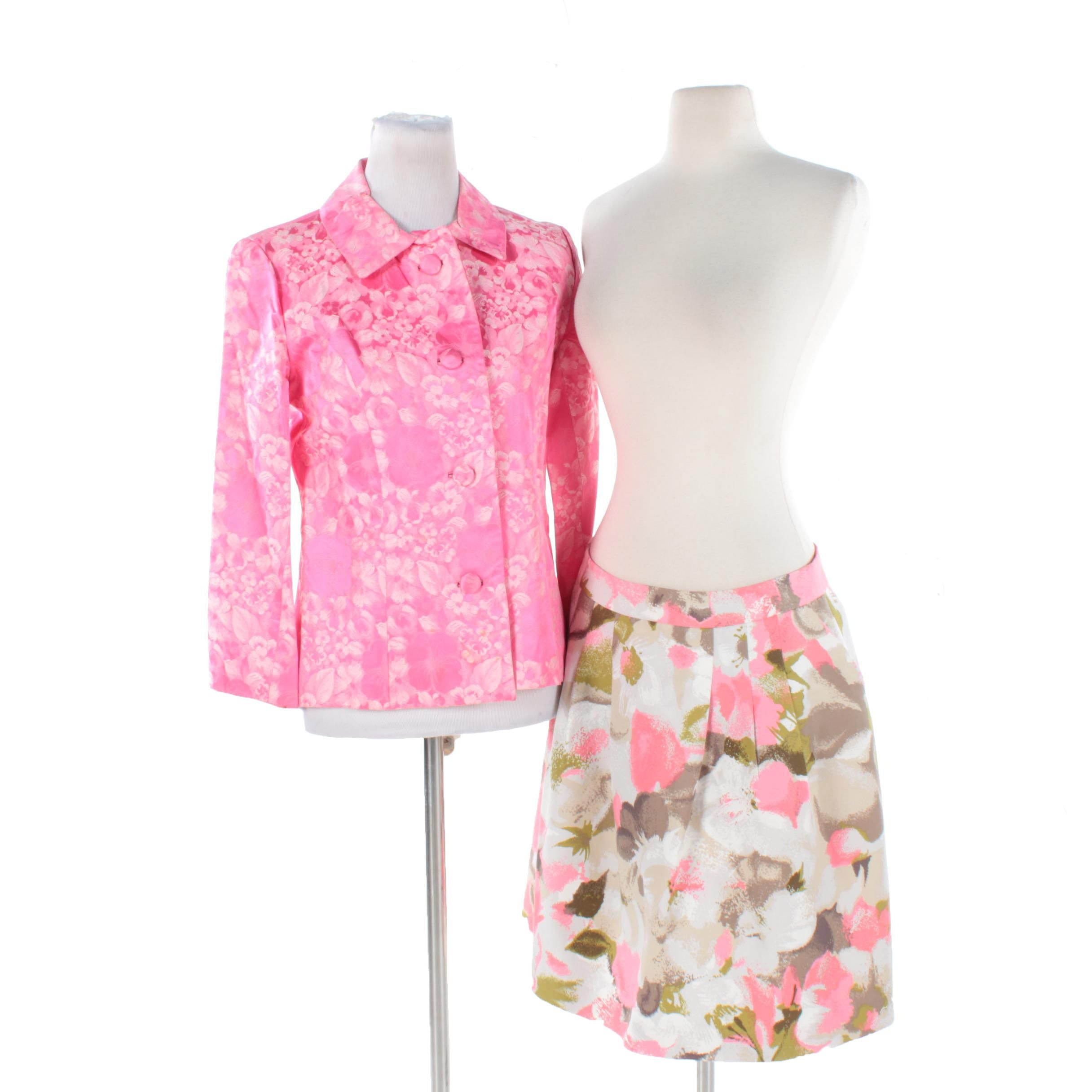 Women's Floral Blazer and Skirt