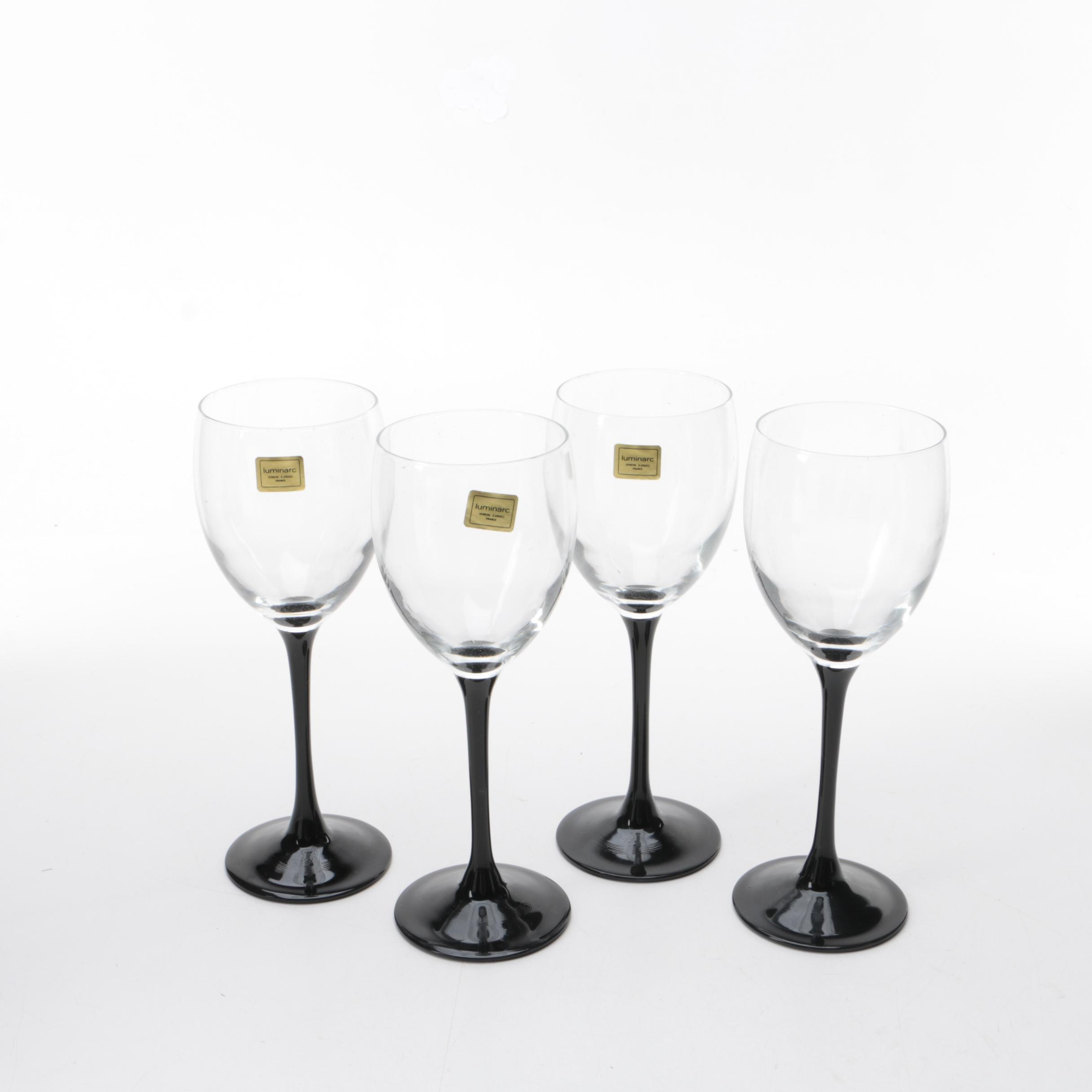 "Luminarc ""Nocuturne"" Wine Glasses"