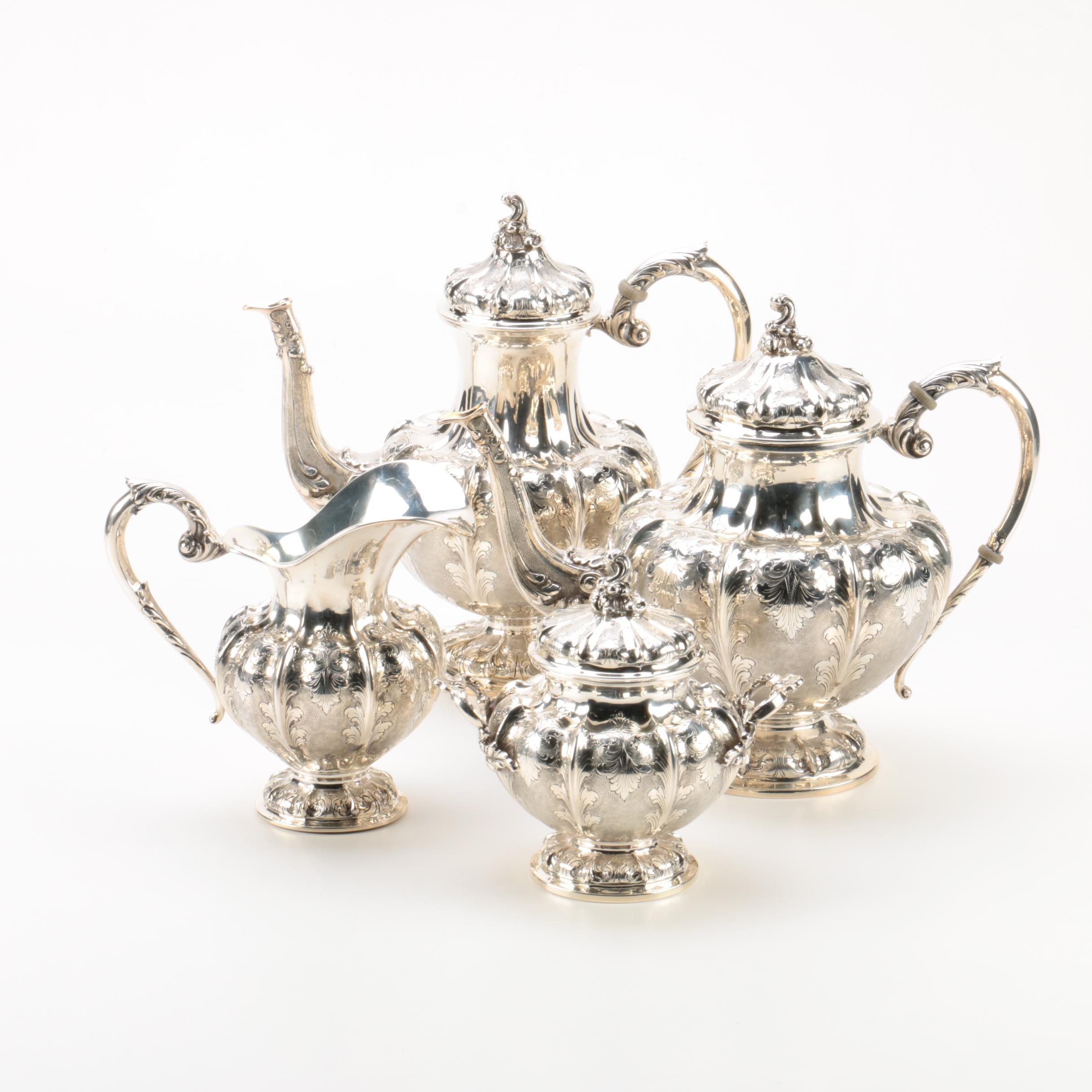 Milanese Arioli Piero 800 Silver Coffee and Tea Set