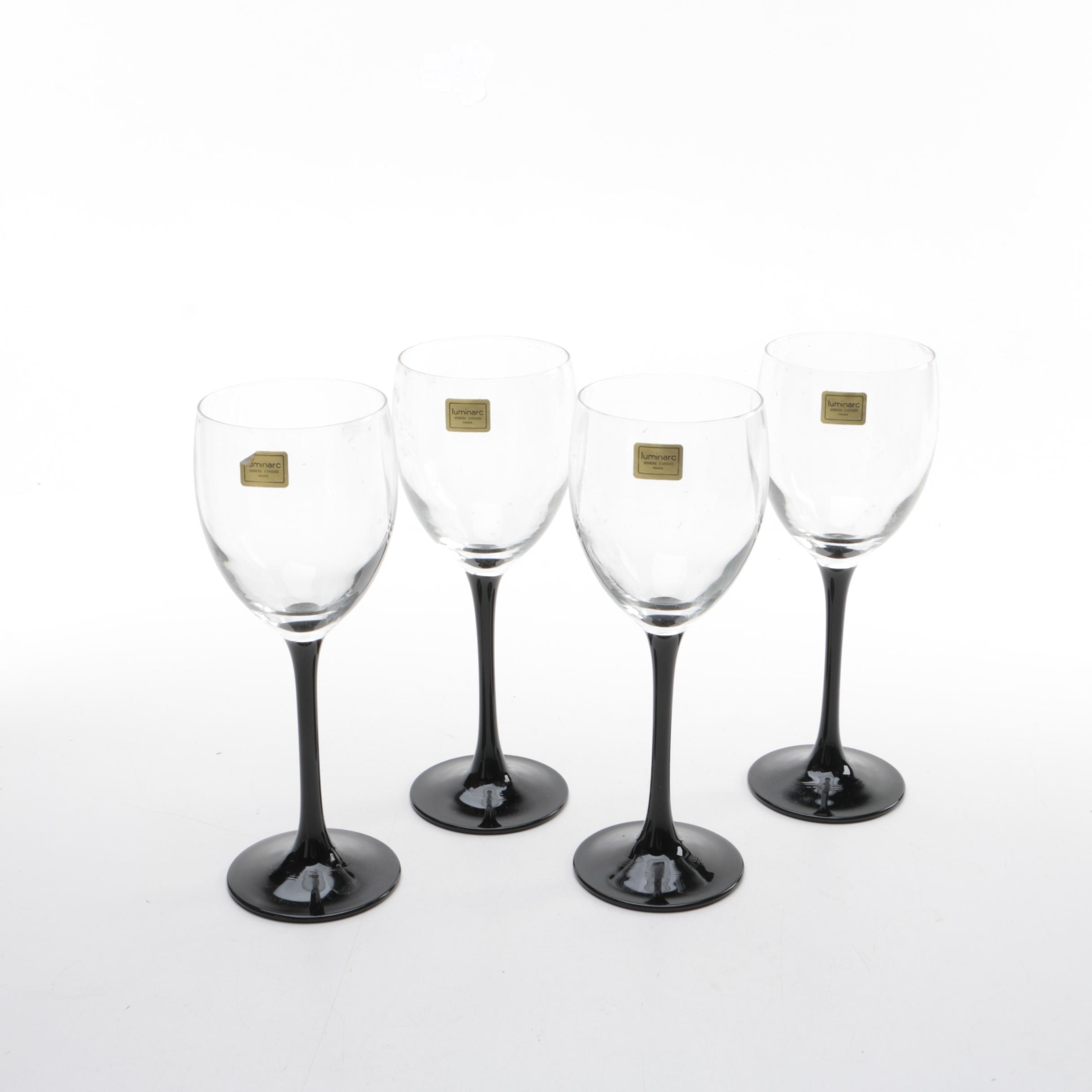 "Luminarc ""Domino"" Wine Glasses"
