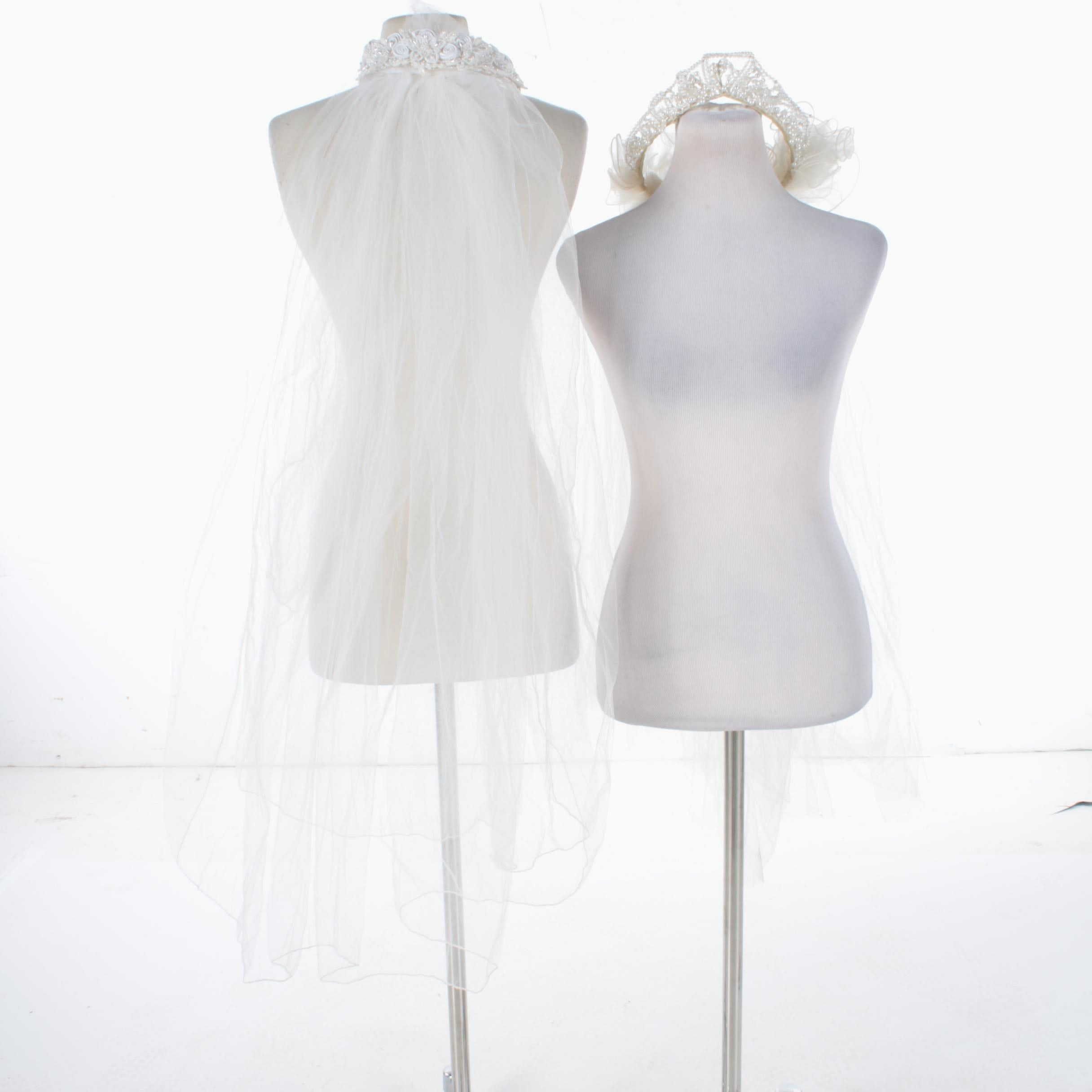 Pair of Bridal Veils with Headpieces