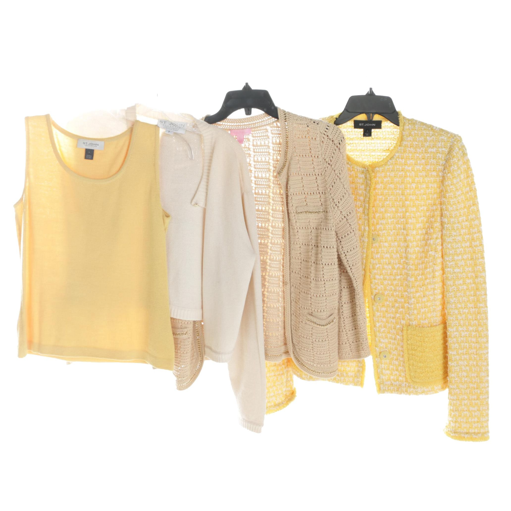 Women's Knit Tank Top and Sweater Jackets Including St. John and Lily Pulitzer