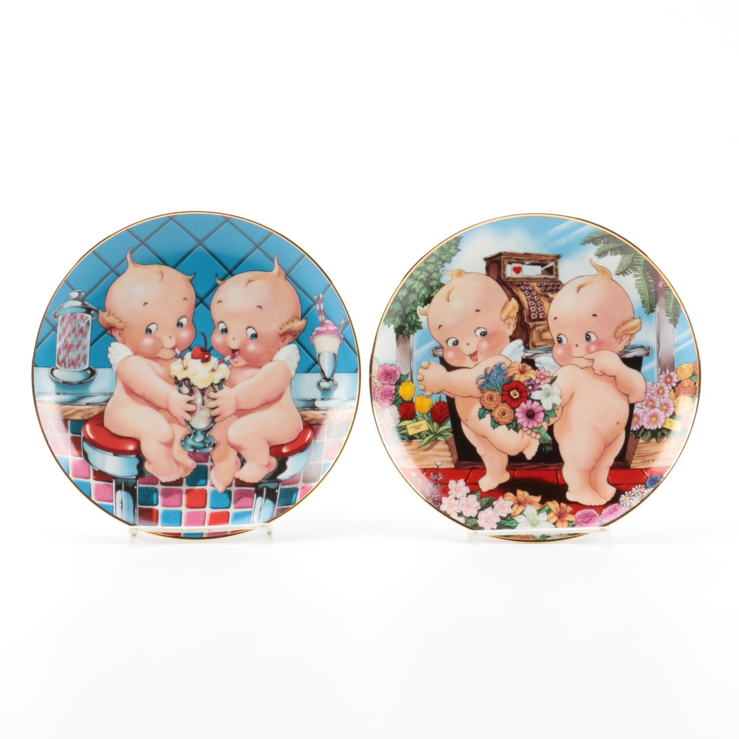 Limited Edition The Danbury Mint Kewpie Doll Themed Collector Plates