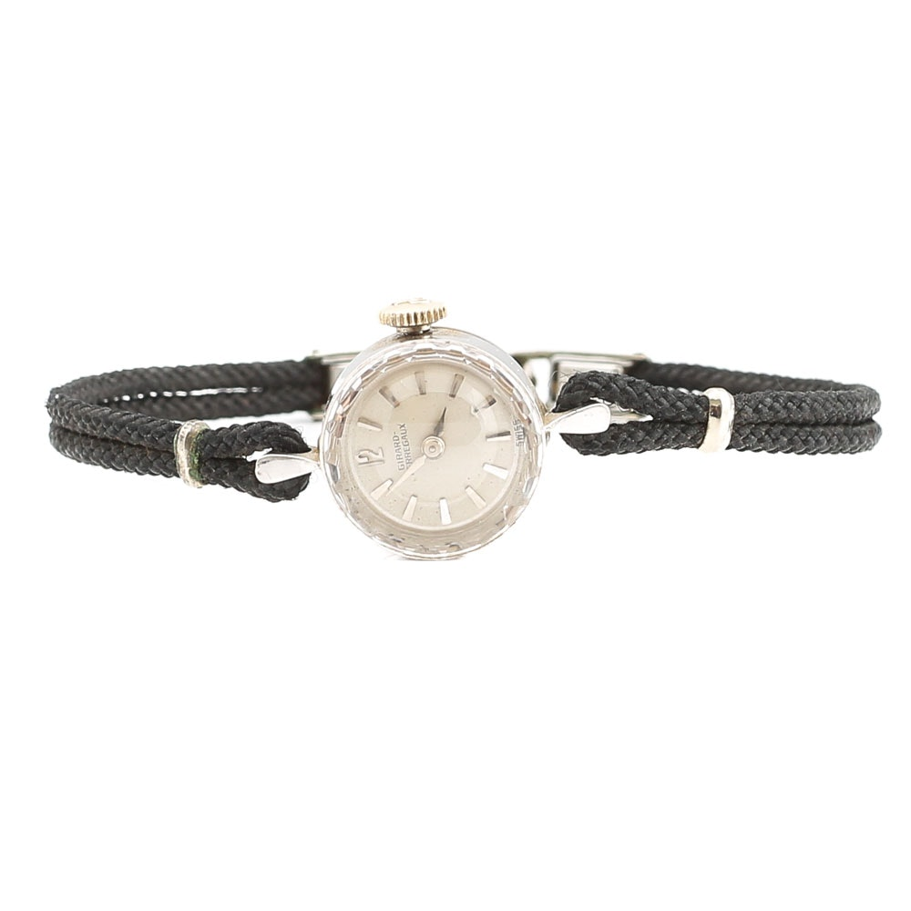 14K White Gold Girard-Perregaux Wristwatch