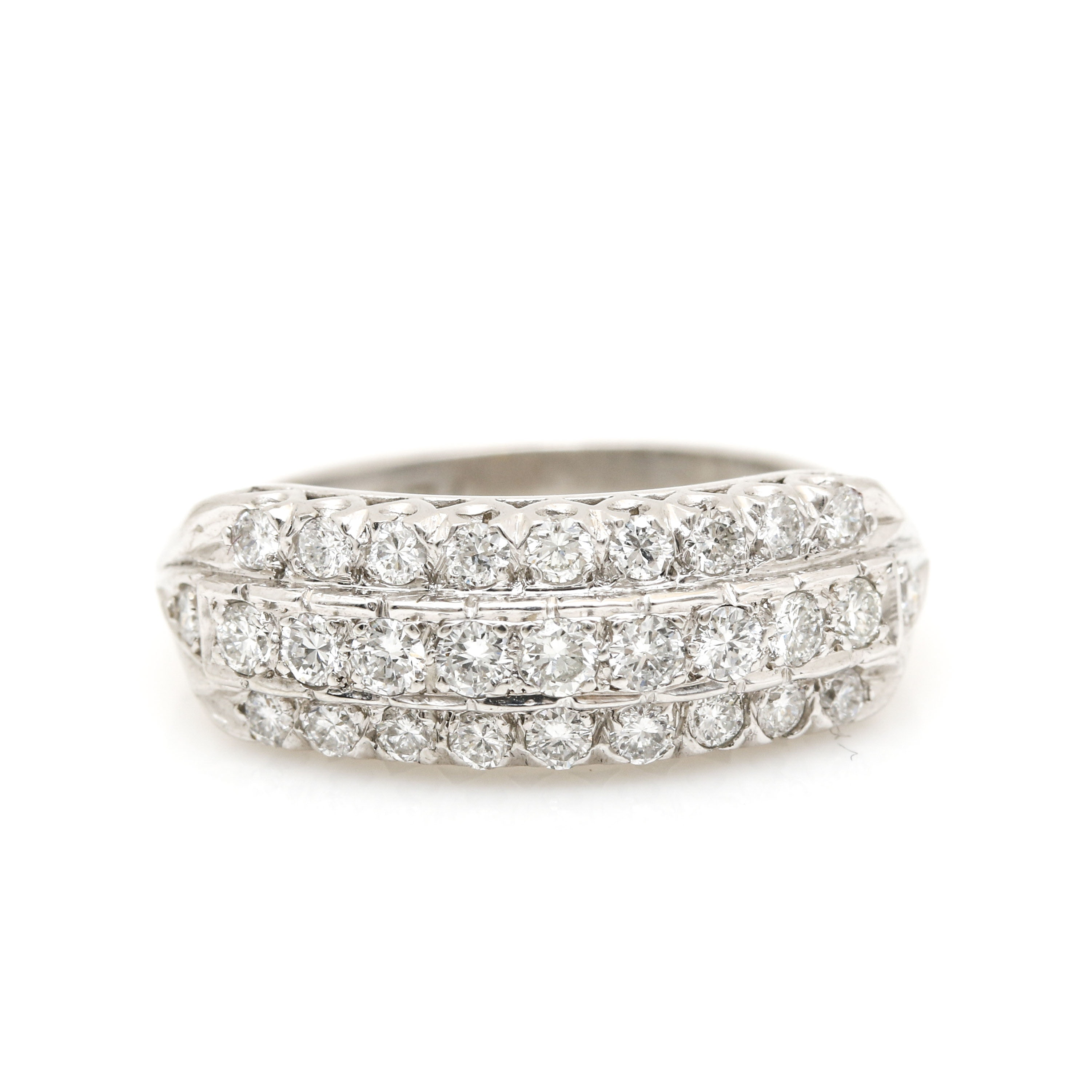 Platinum 0.69 CTW Diamond Ring