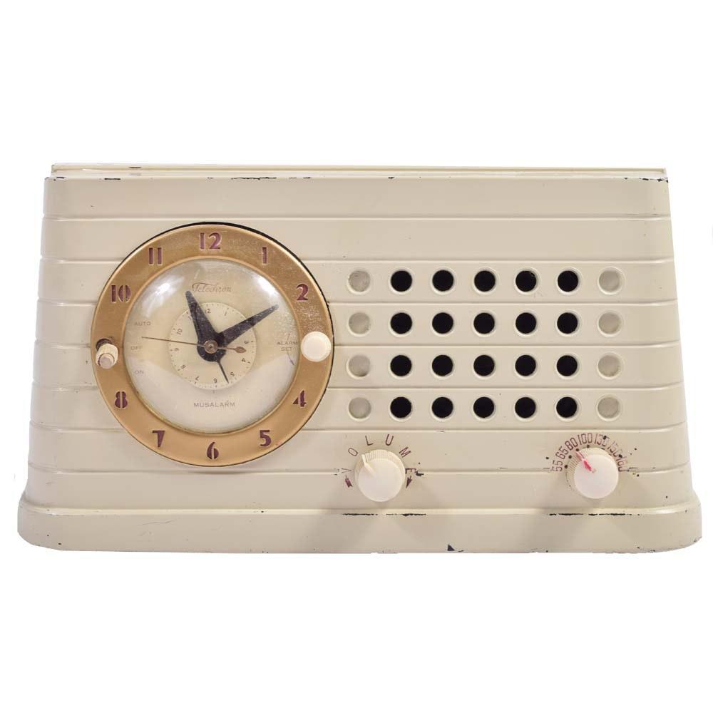 Circa 1948 Telechron Musalarm Clock Radio