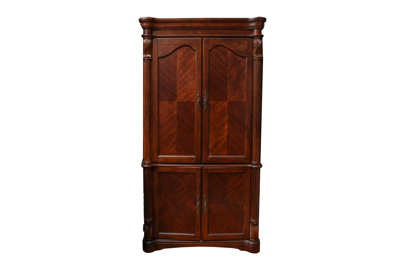 Contemporary French Empire Style Secretary Armoire
