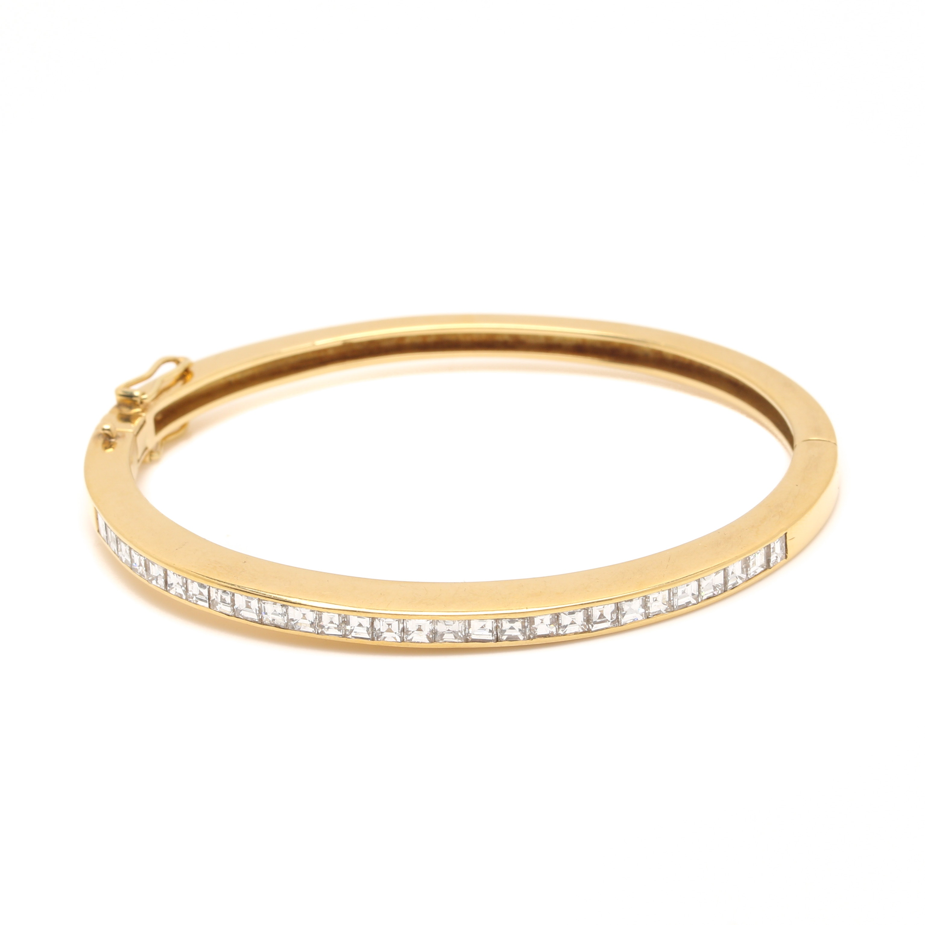 18K Yellow Gold and Diamond Bracelet