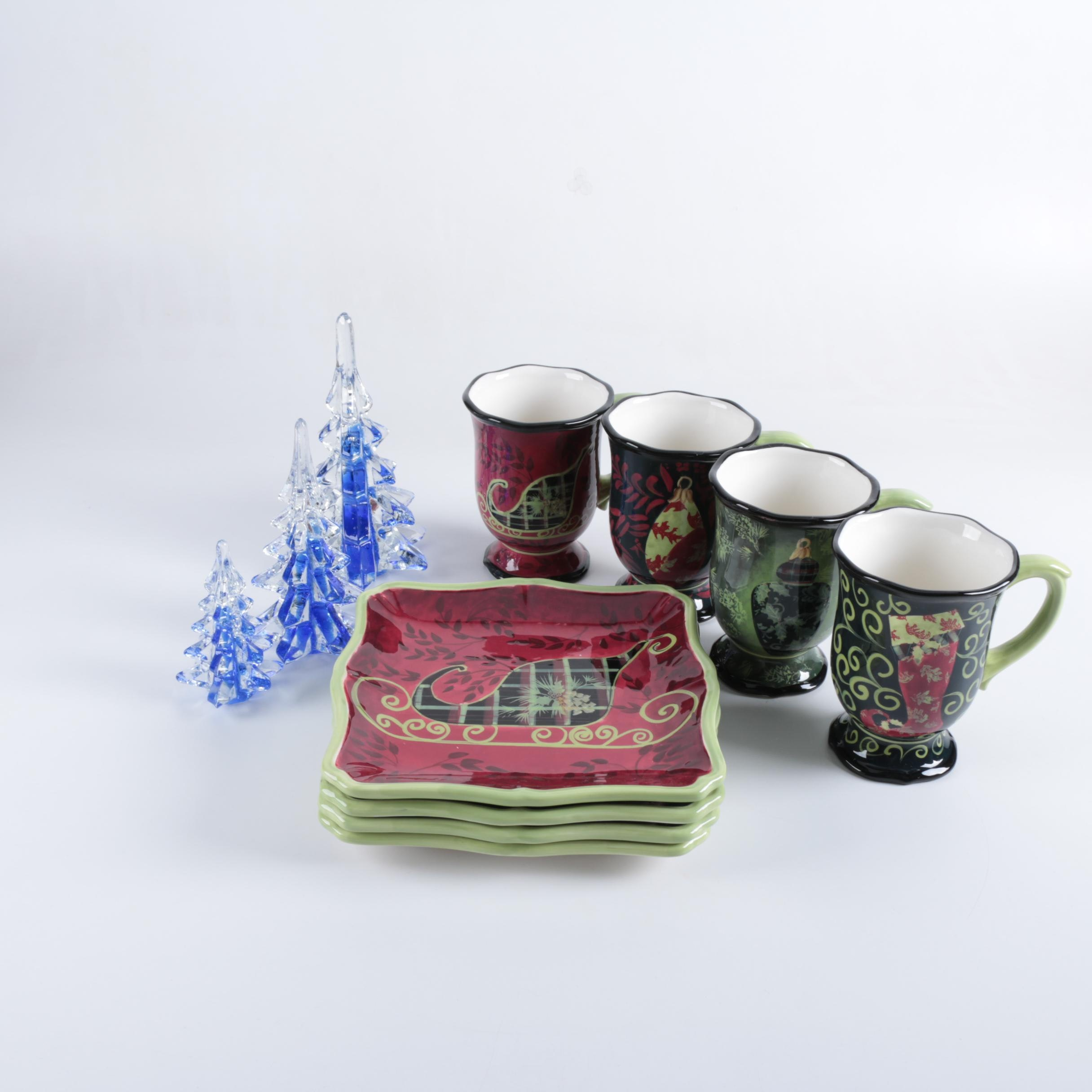 Christmas Themed Tableware and Figurines