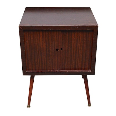 Mid Century Modern Mahogany Record Cabinet - Vintage And Antique Cabinets Auction In Art, Sterling Silver