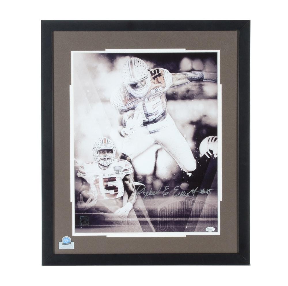 2015 Ezekiel Elliot Ohio State Buckeyes Autographed Framed Football Print