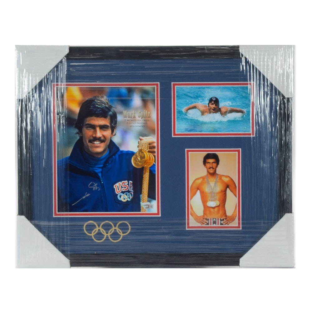 Mark Spitz Signed 1972 Olympics Swimming Matted and Framed Display