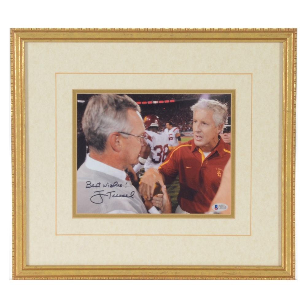 Jim Tressel Autographed Photo  COA