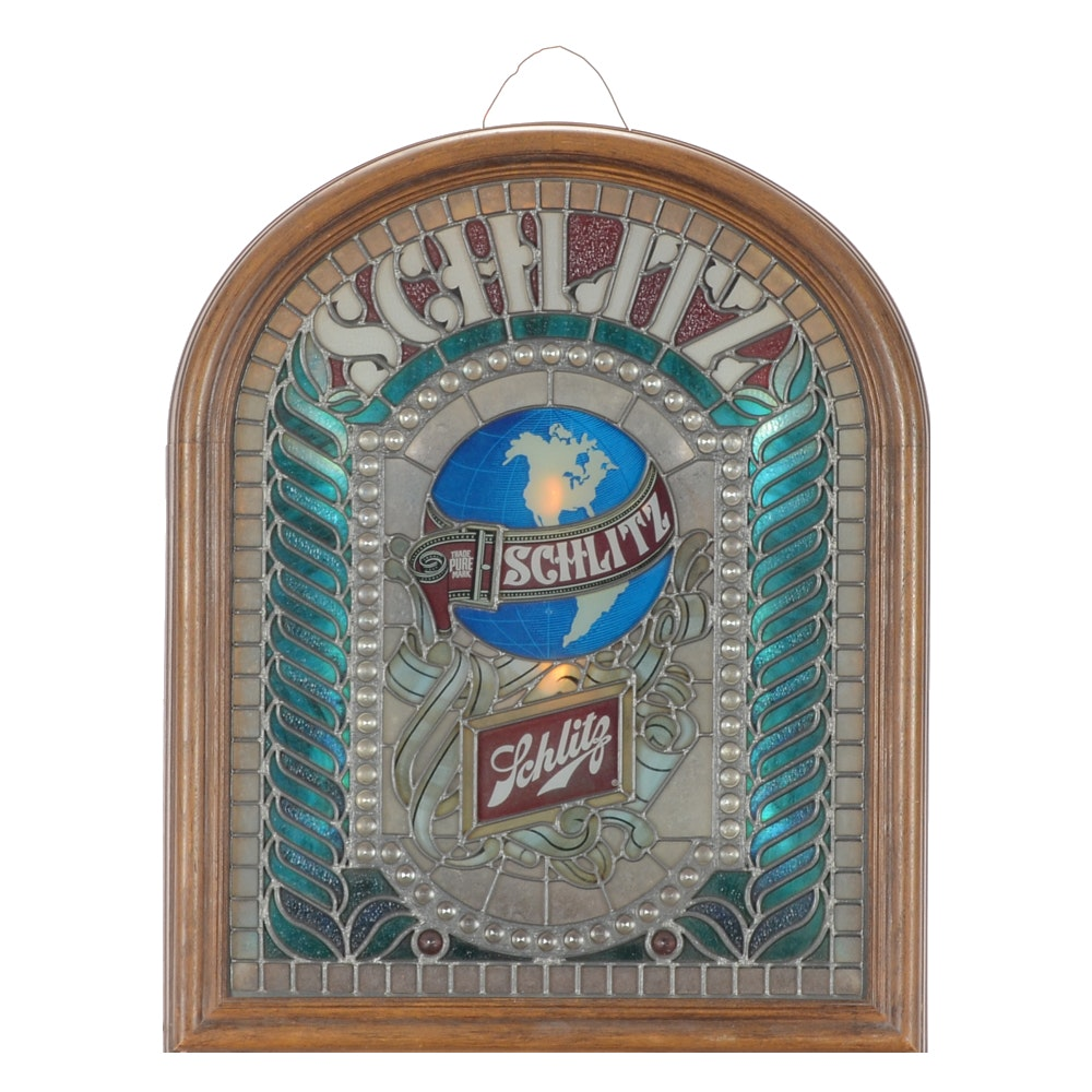 "1970s Electrified ""Schlitz Beer"" Advertising Sign"