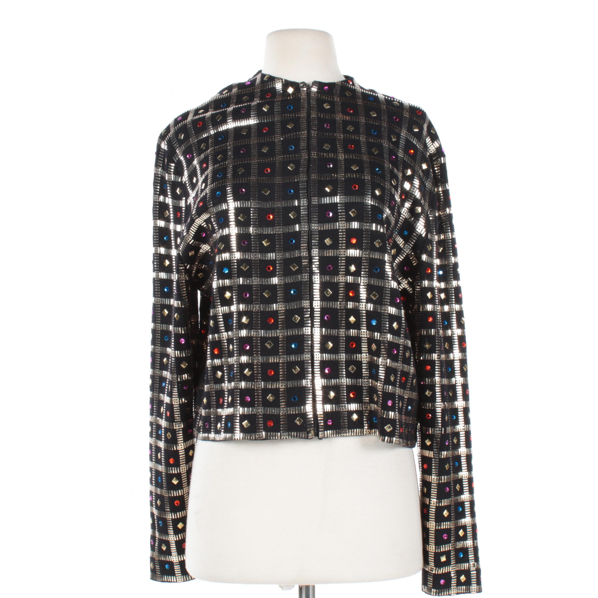 St. John Embellished Knit Jacket