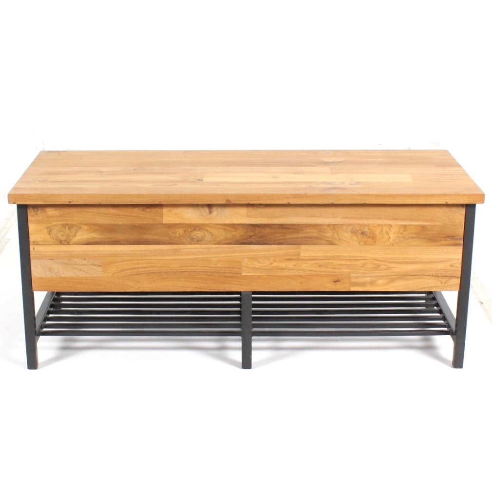 "Crate & Barrel ""Teca"" Storage Bench"