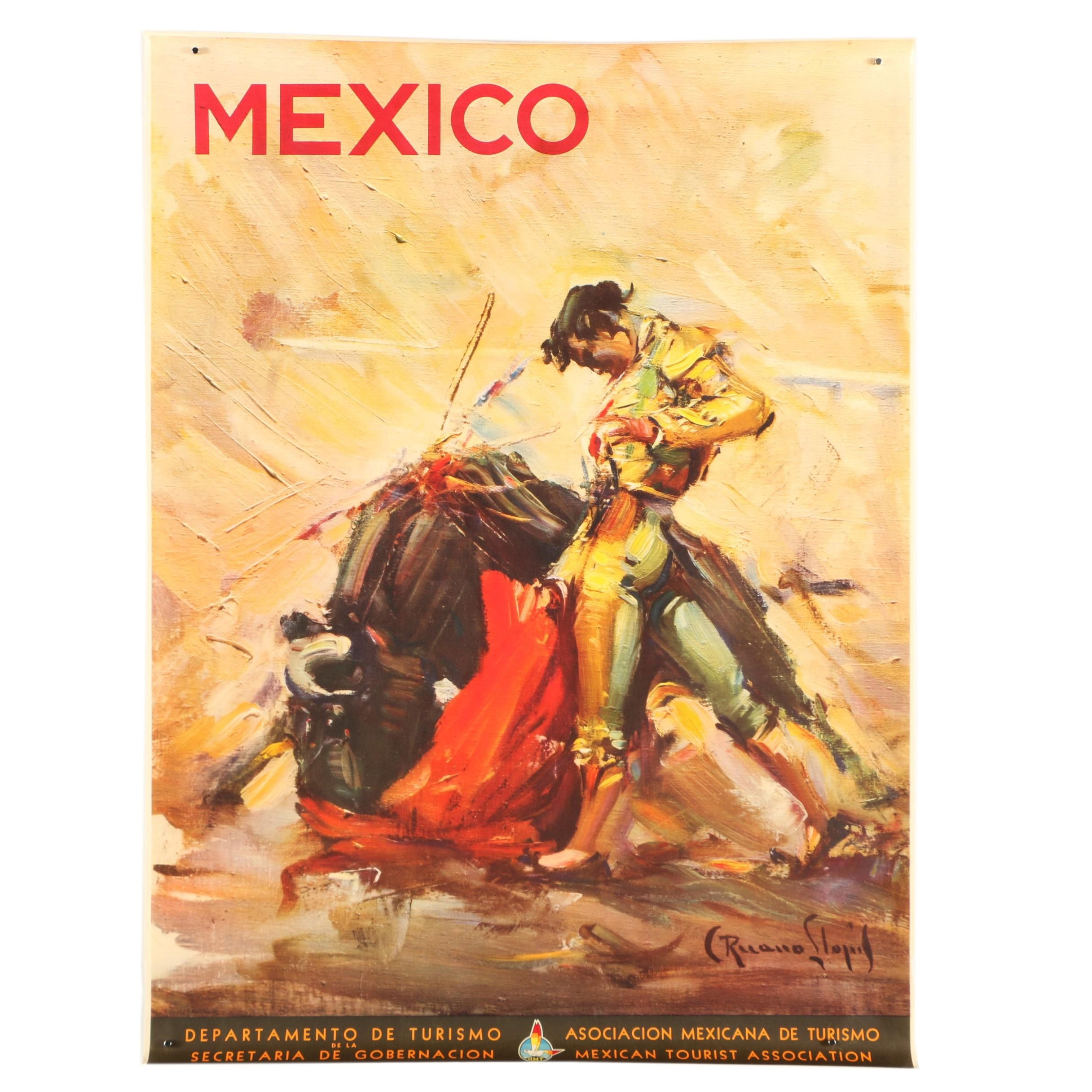 Offset Lithograph After Mexico Department of Tourism Poster