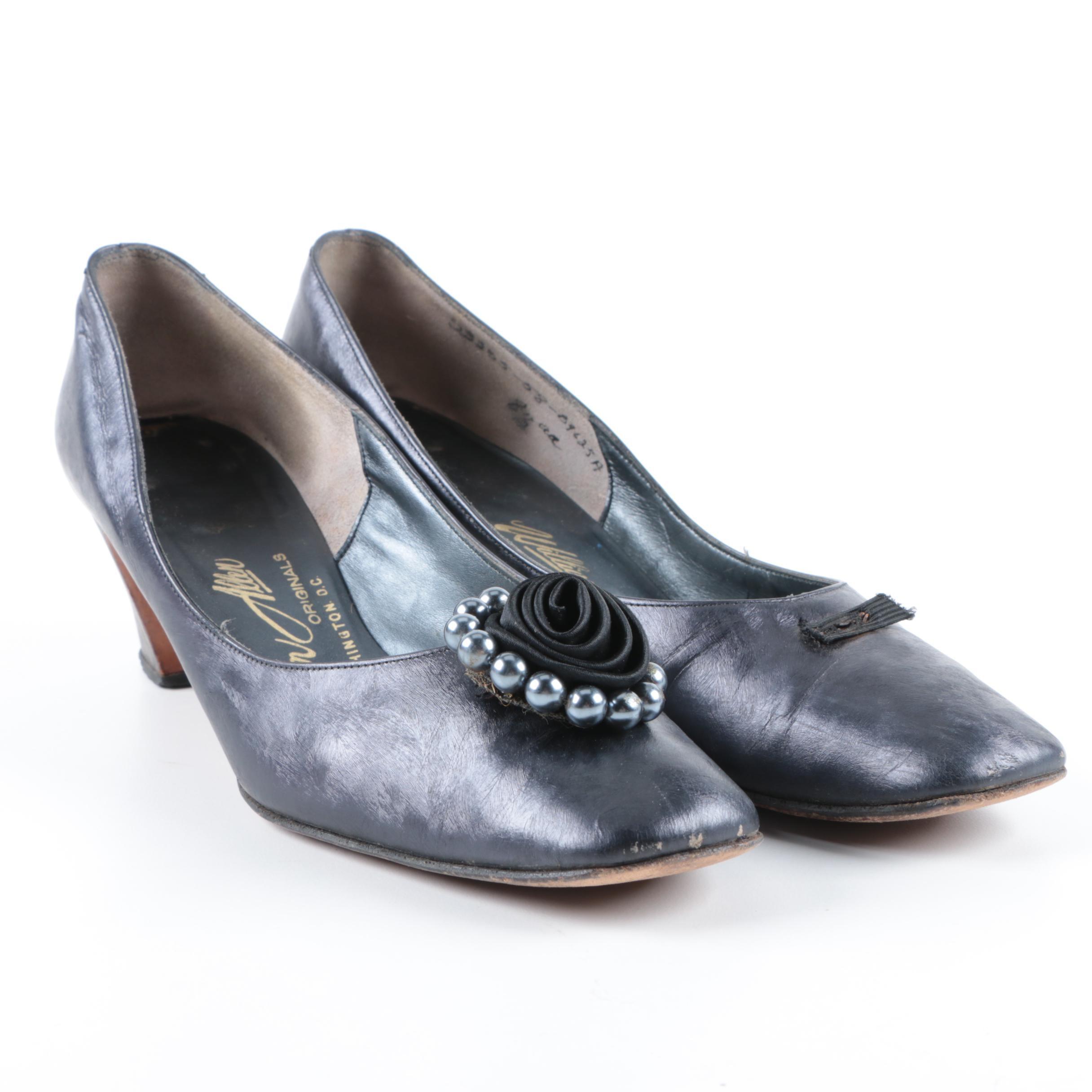 Vintage William Allen Stacked Heeled Shoes