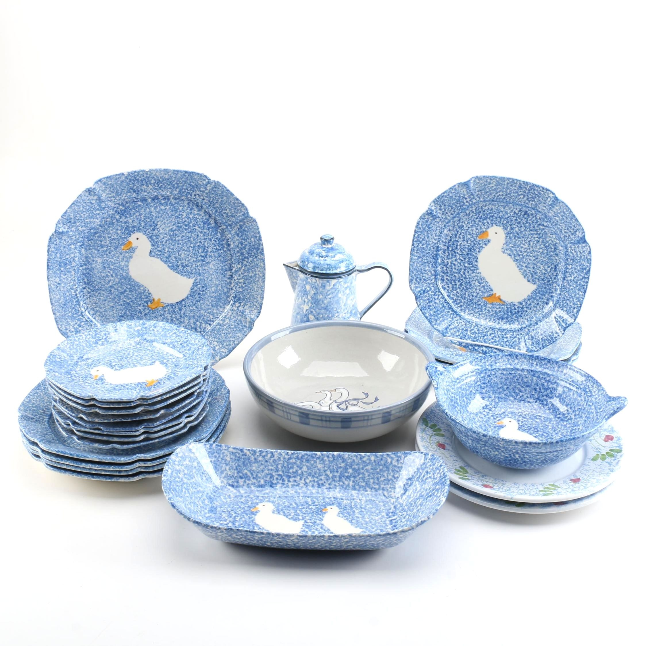 "Bird Themed Tableware Including Williams-Sonoma and Louisville ""Gaggle of Geese"""