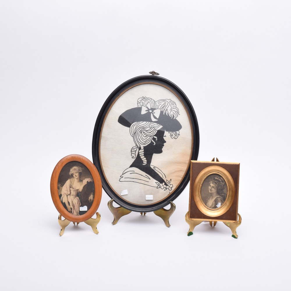 Collection of Women's Oval Portrait Prints