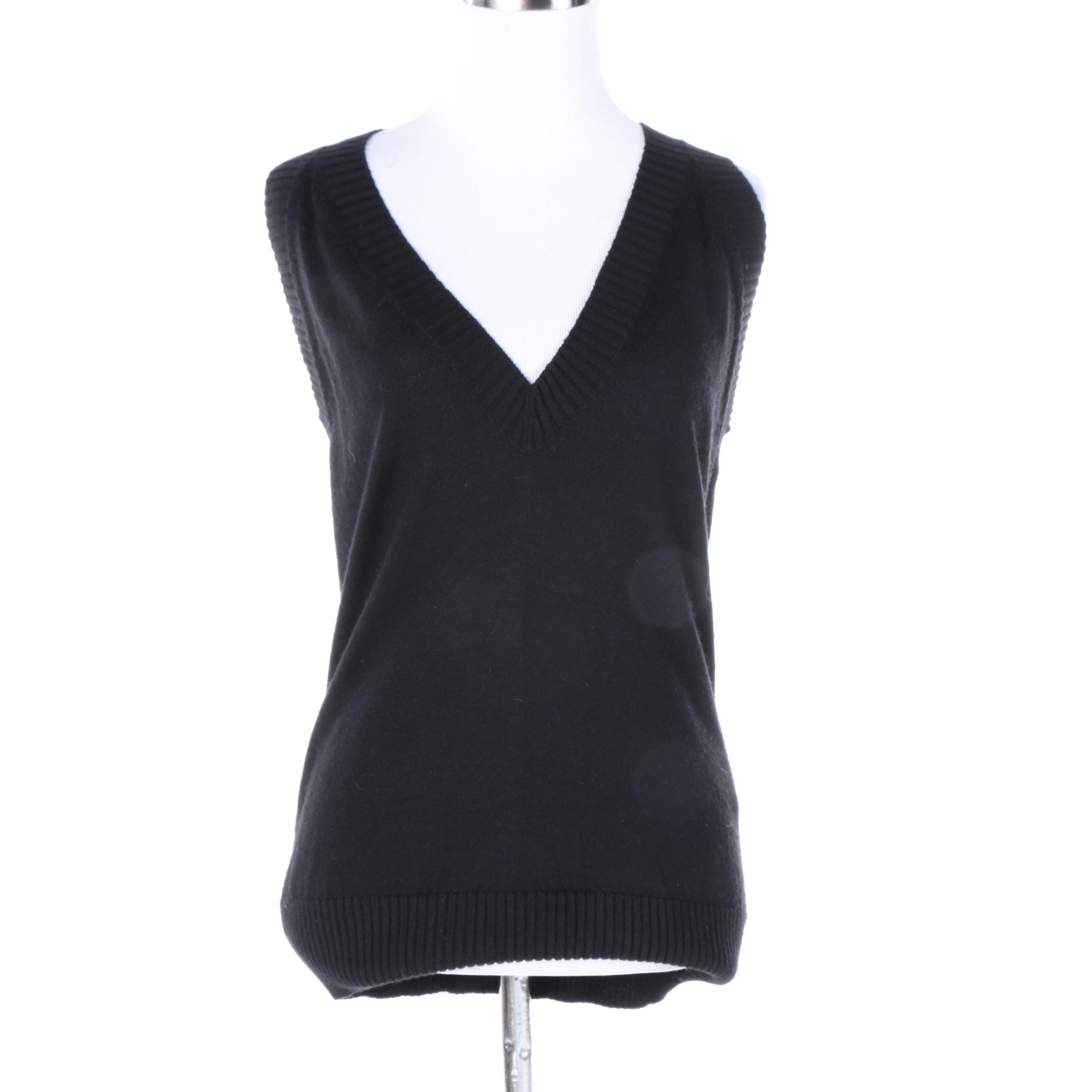 Dolce & Gabbana Black Knit Sweater Vest