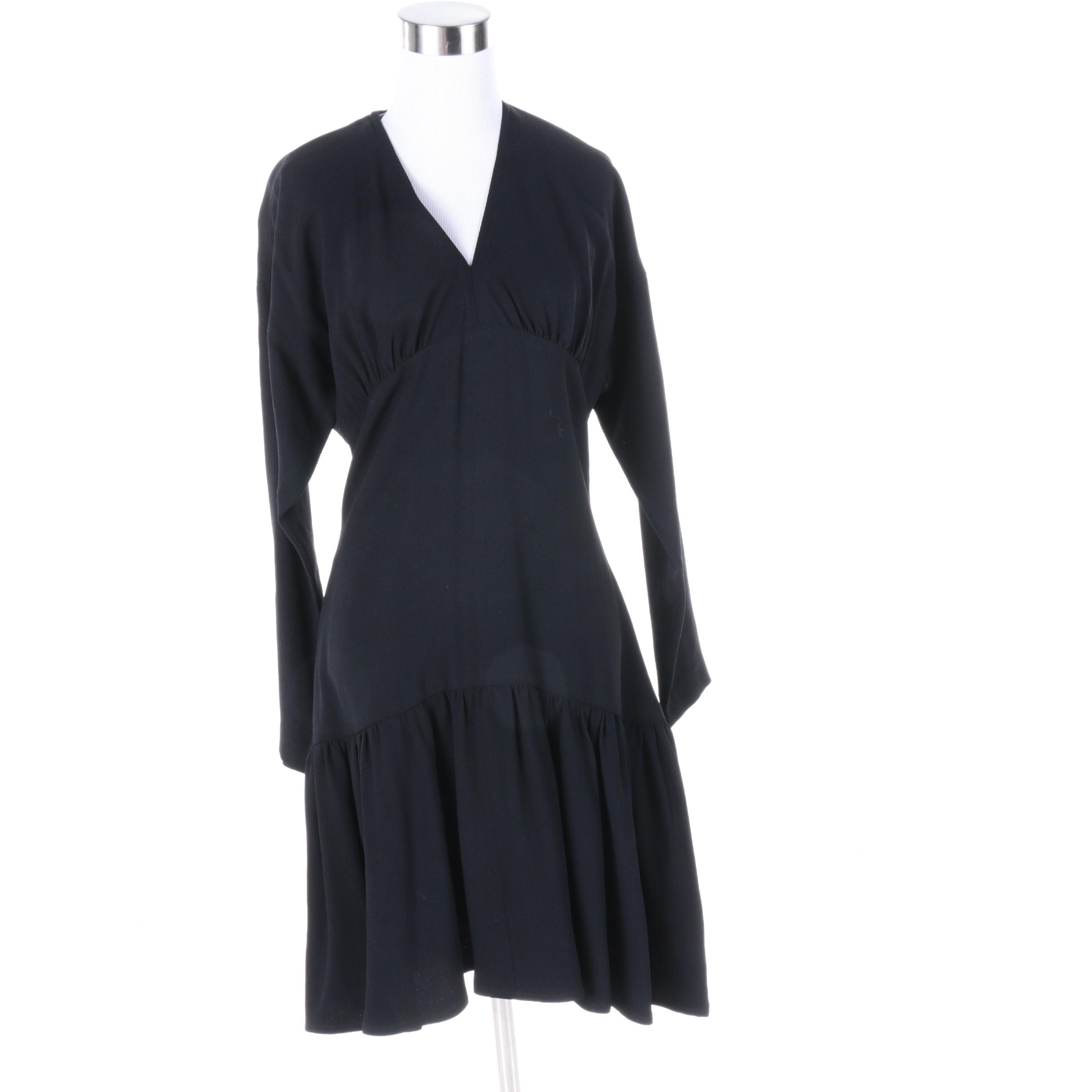 Women's 1980s Vintage Sonia Rykiel of Paris Hattie Black Dress