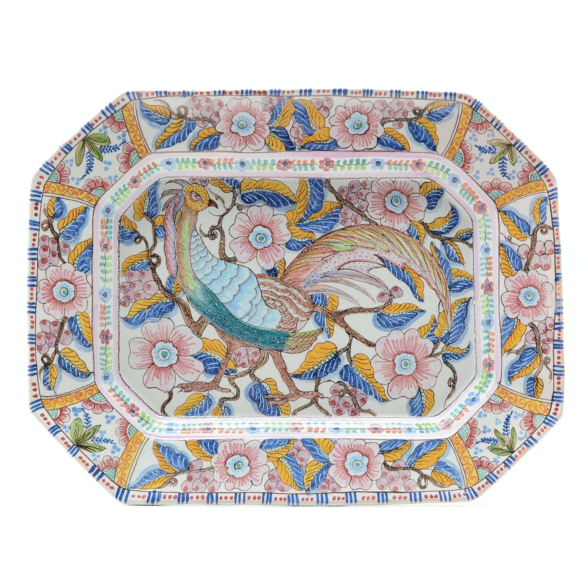 Colorful Hand Painted Coimbra Portugese Platter