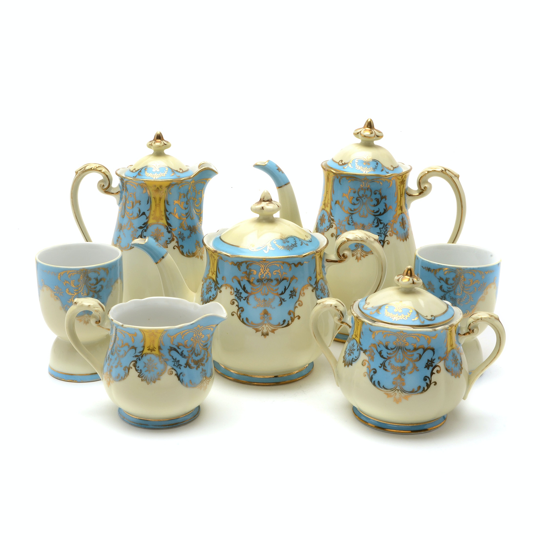 Early 20th Century Noritake Hand Painted Breakfast Set
