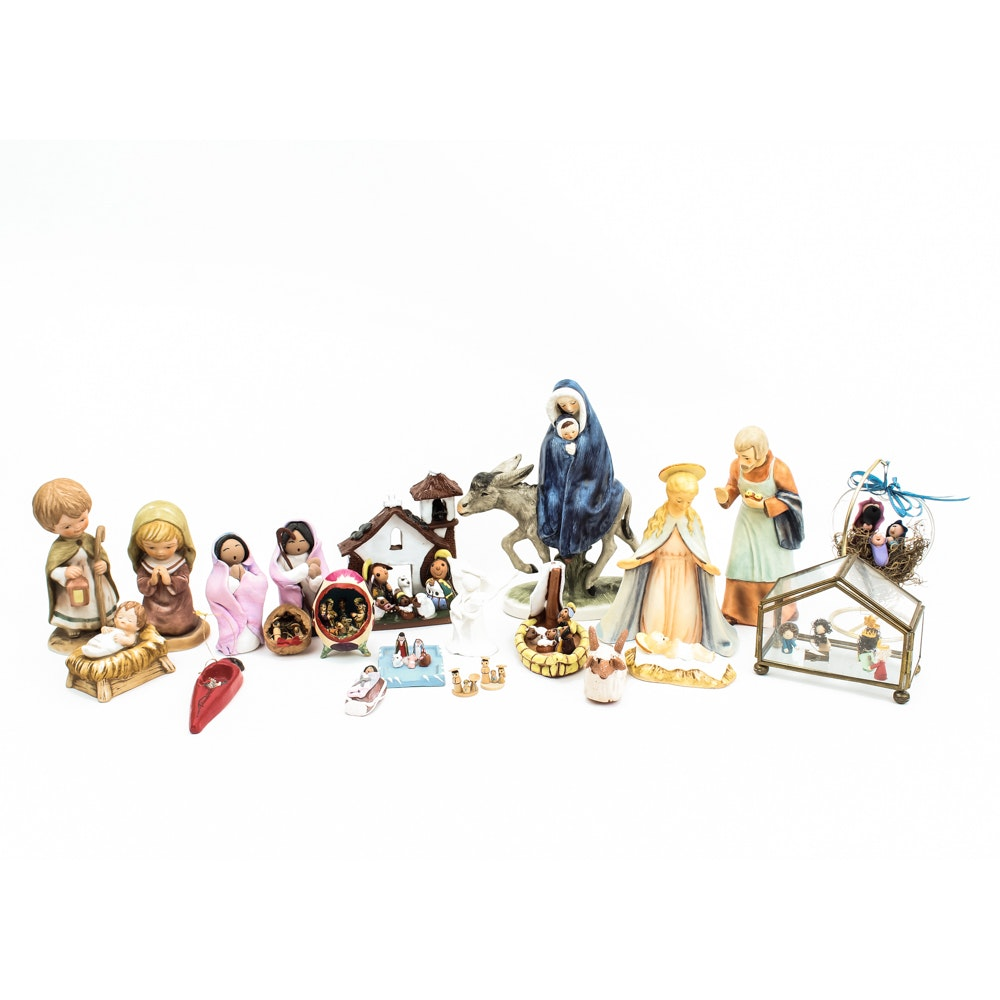 Collection of Miniature Nativity Scenes