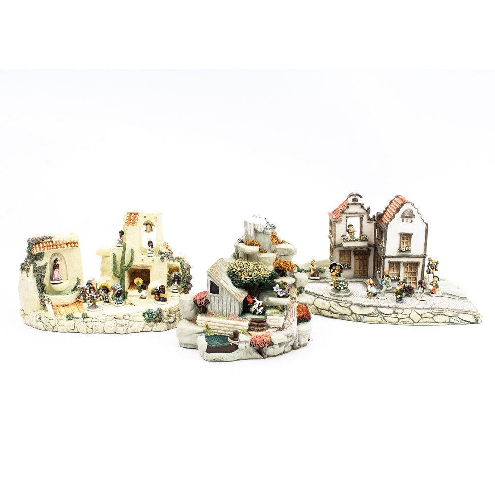 Three Goebel Mini Displays