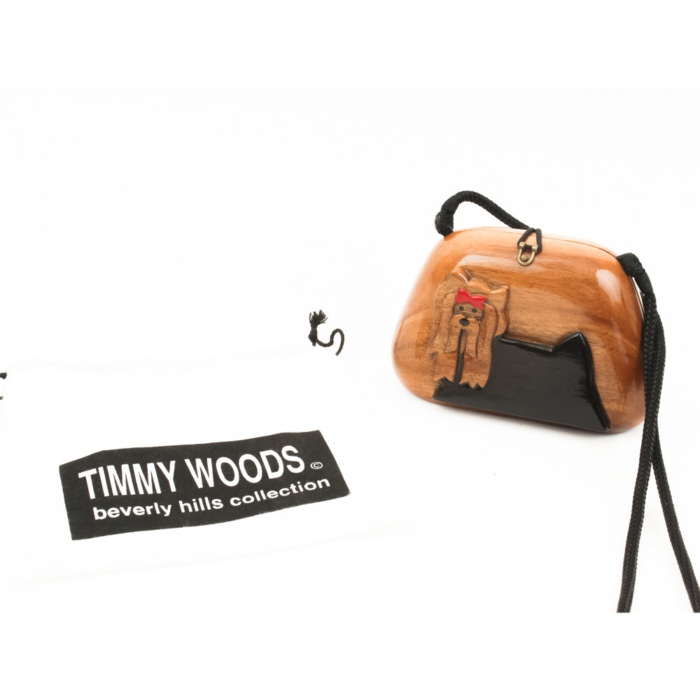 Timmy Woods Wooden Carved Purse