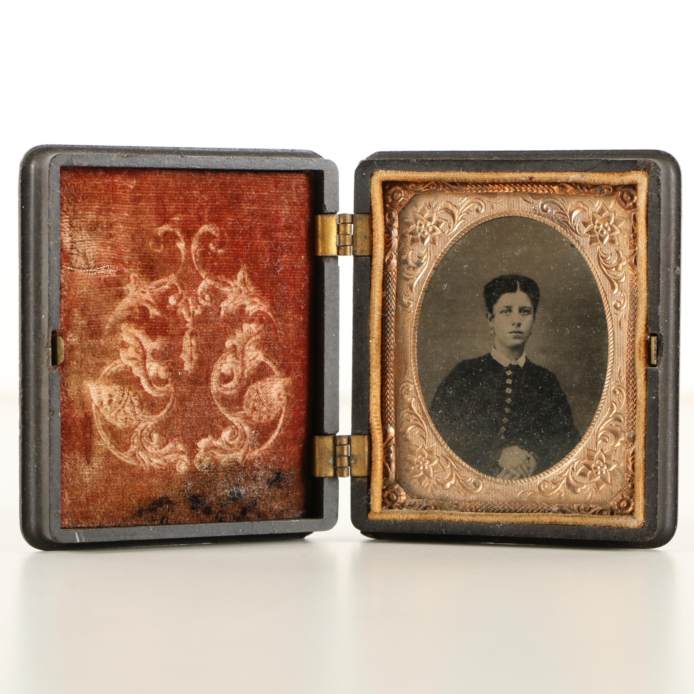 Antique Tintype Photograph in Union Case