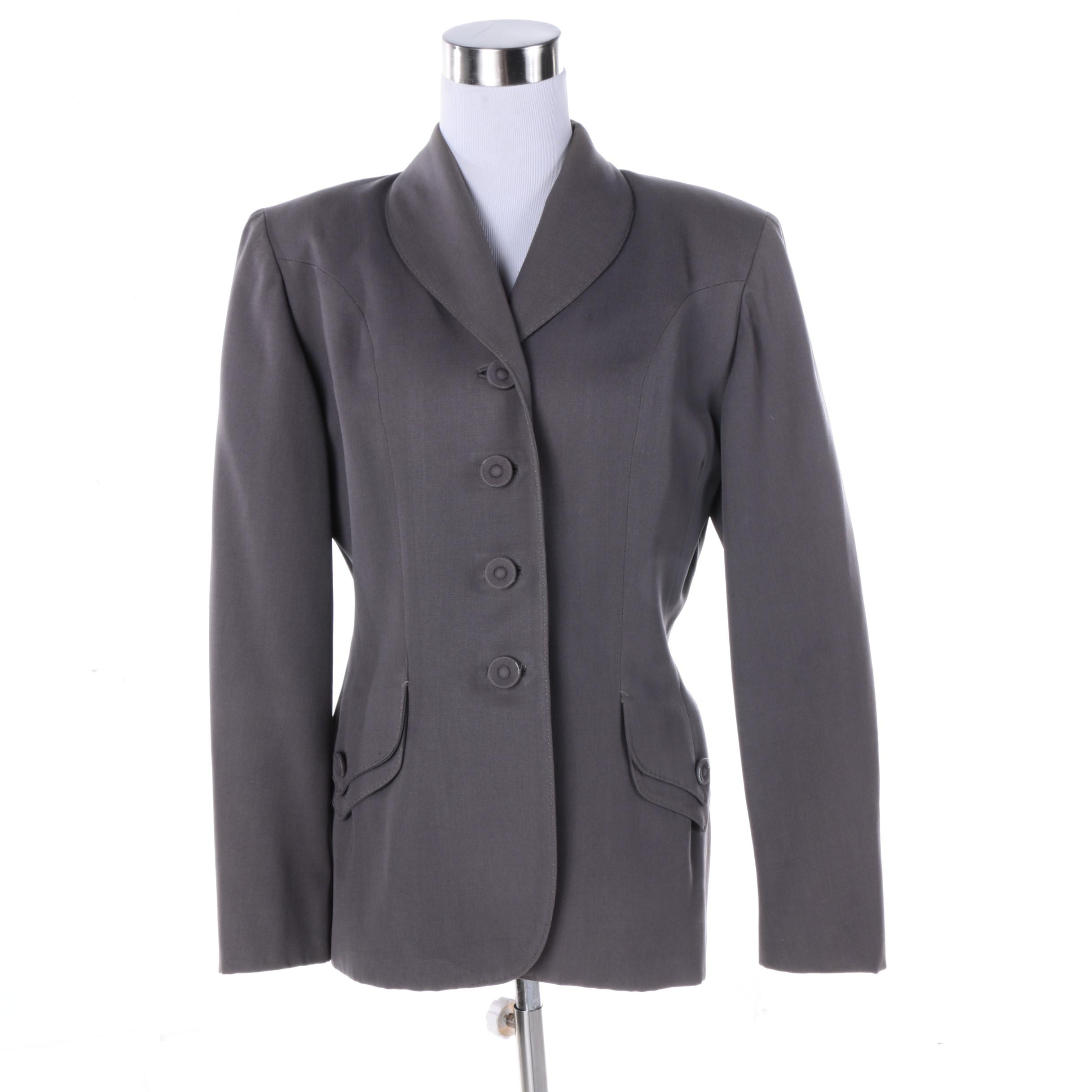 Women's Vintage John Taylor Grey Suit Jacket