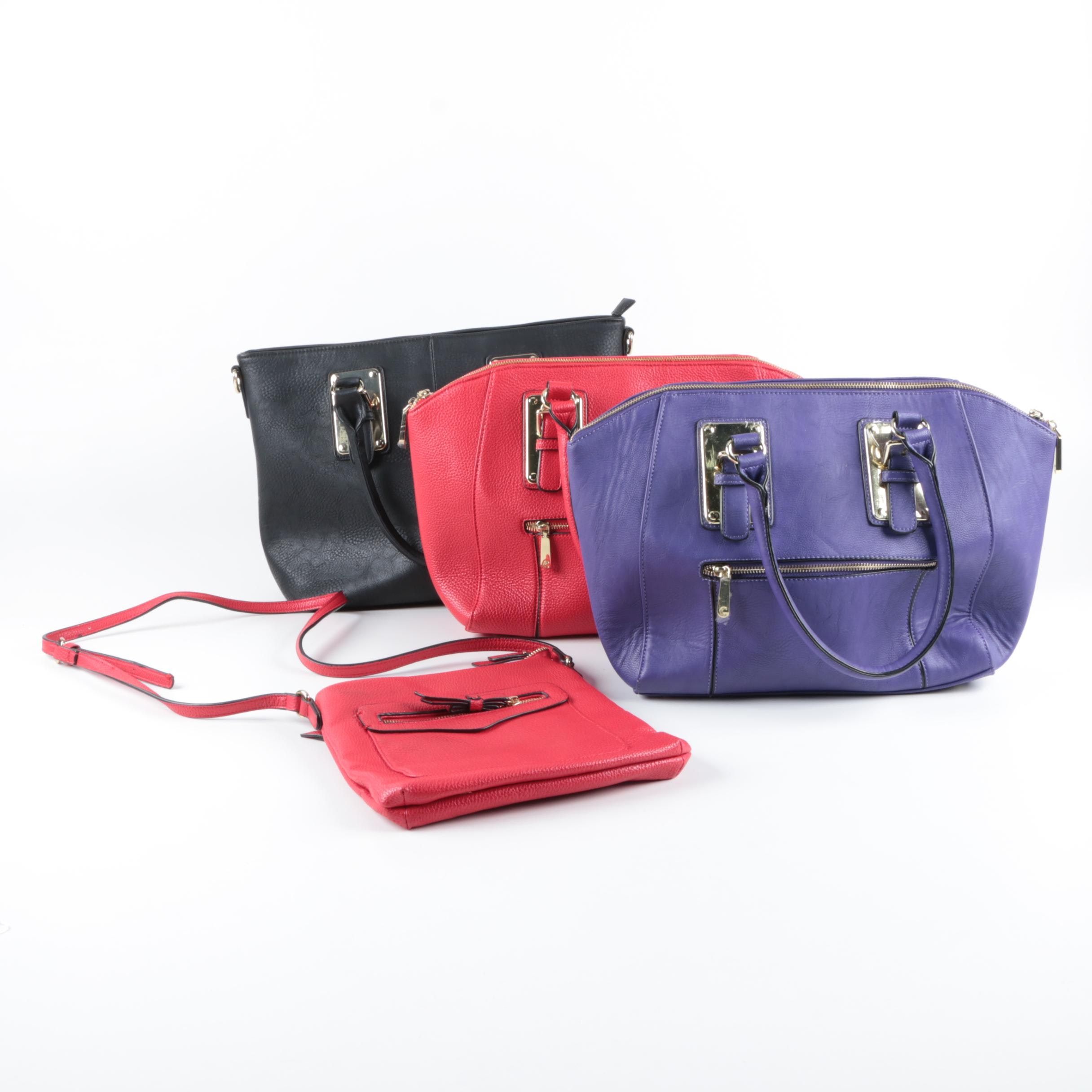 Charming Charlie Pebbled Leather Handbags and Cross Body