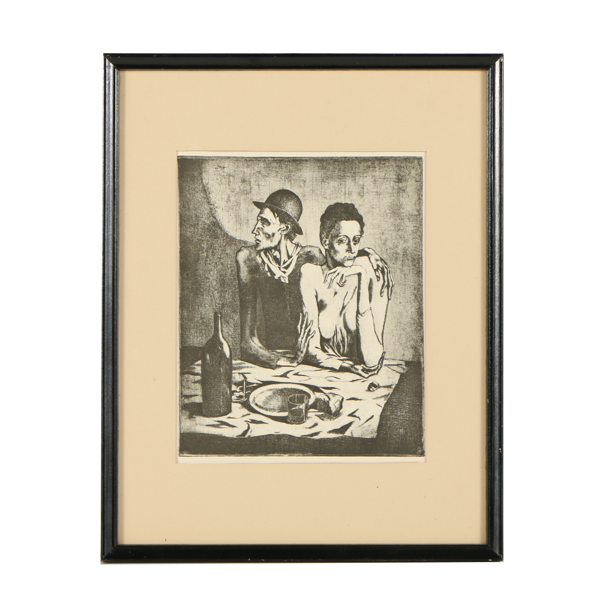 """Metzograph After Pablo Picasso """"Le repas frugal (The Frugal Repast)"""""""