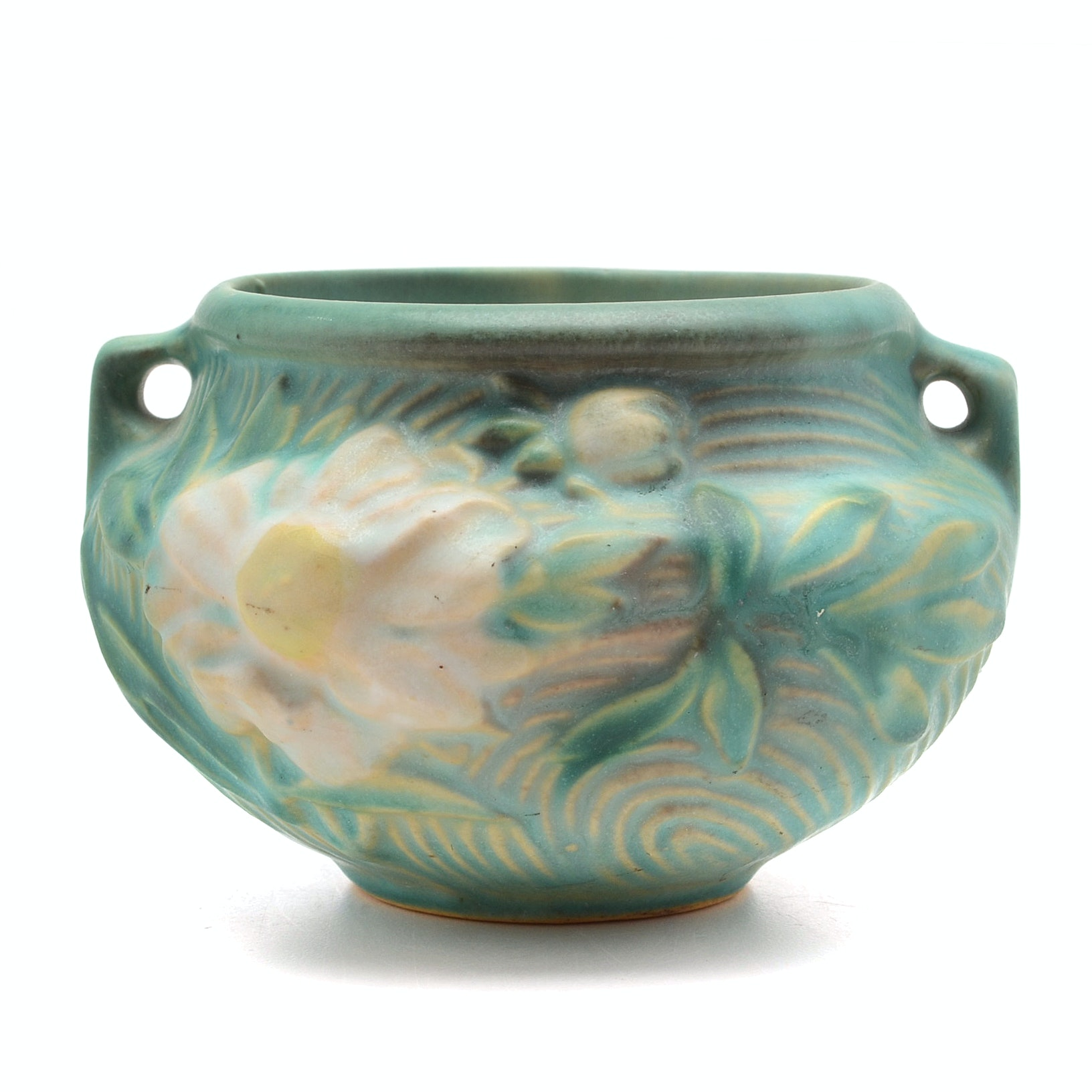 "Small Roseville Pottery ""Peony"" Jardiniere."