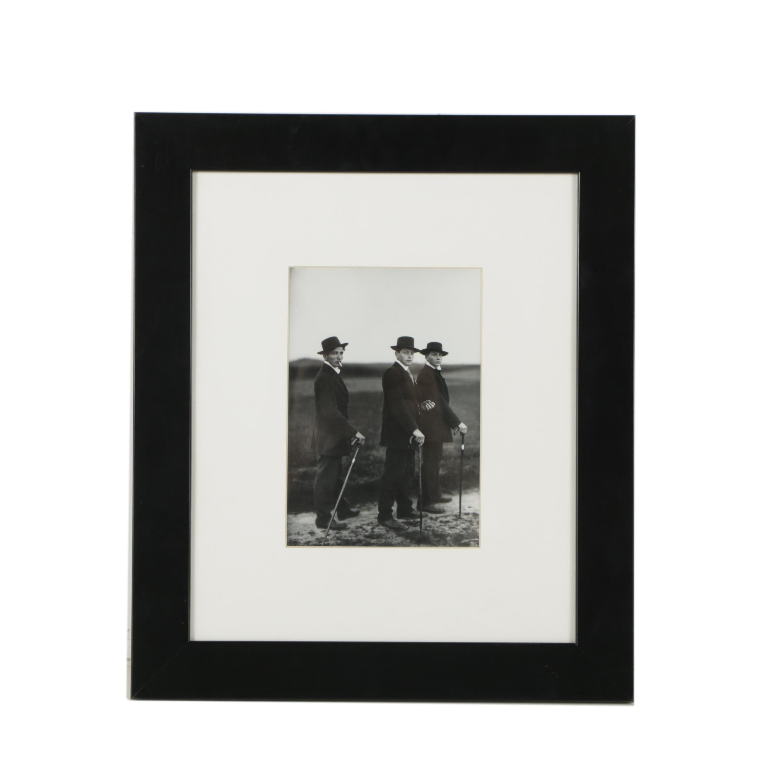 """Gelatin-Silver Photograph After August Sander """"Young Farmers"""""""