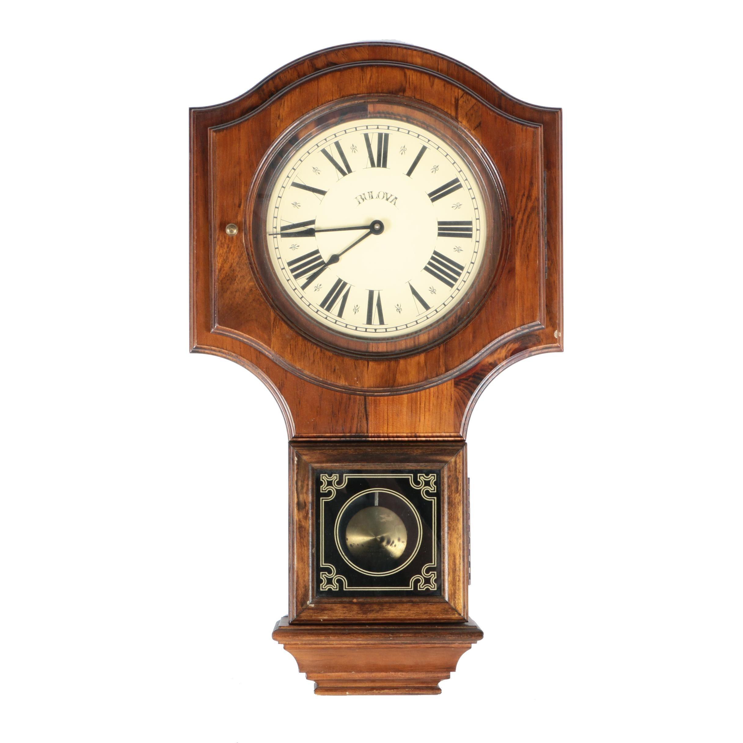 Bulova Wooden Quartz Pendulum Wall Clock