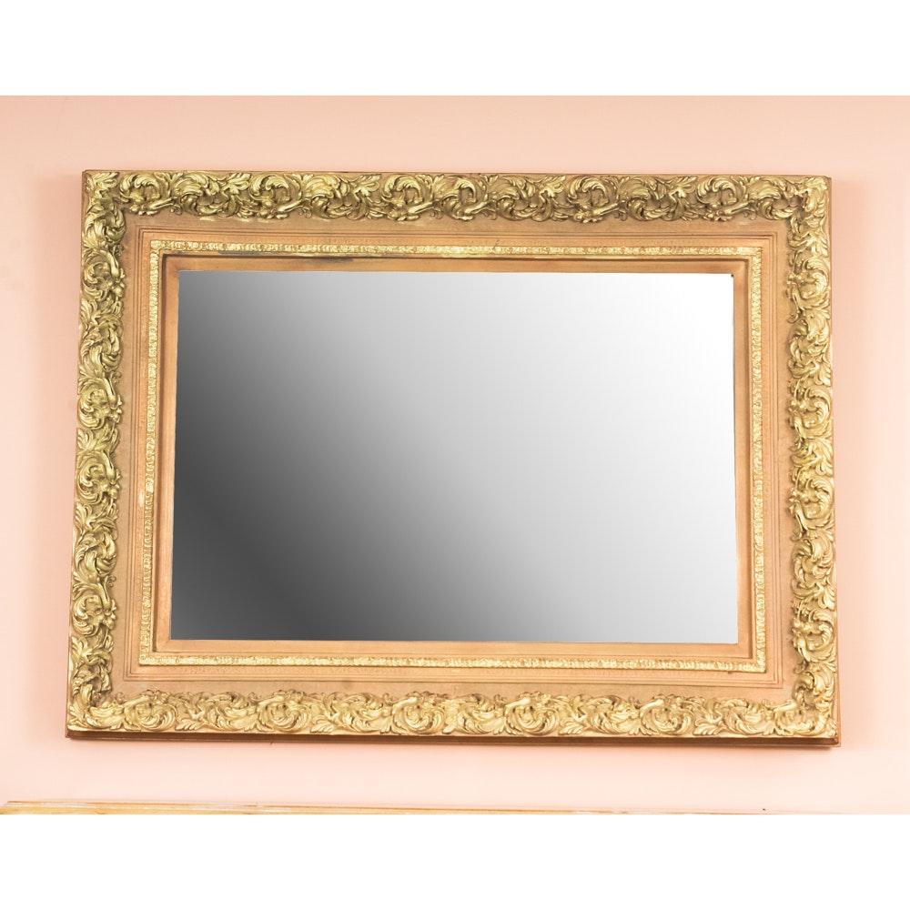 Gold Tone Ornate Mirror