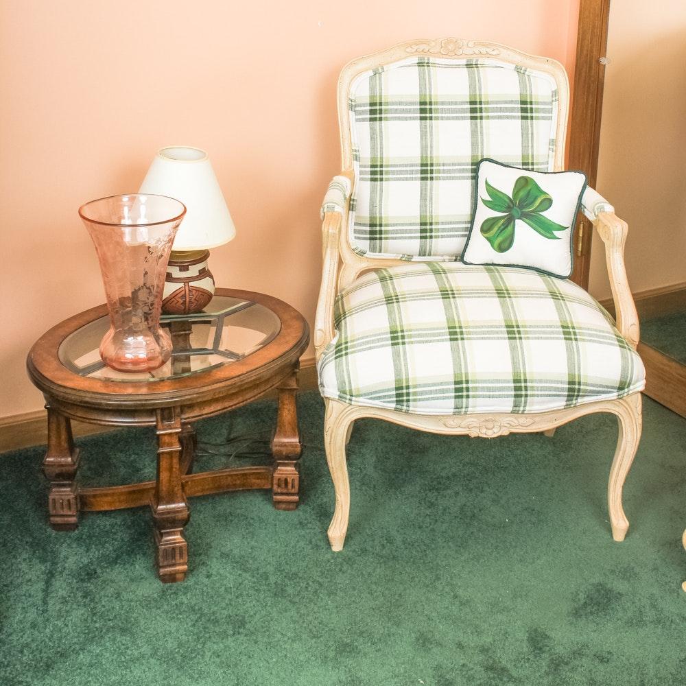 Plaid Arm Chair