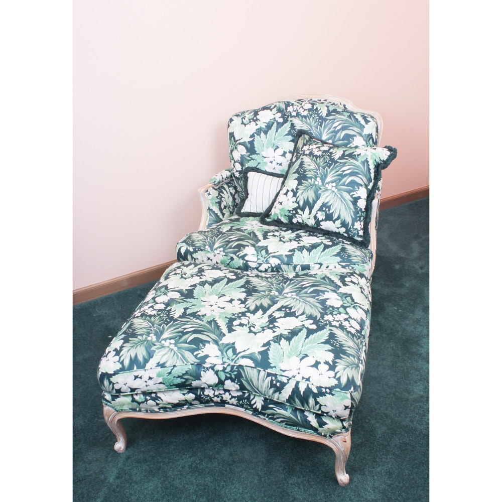 Floral Upholstered Arm Chairs