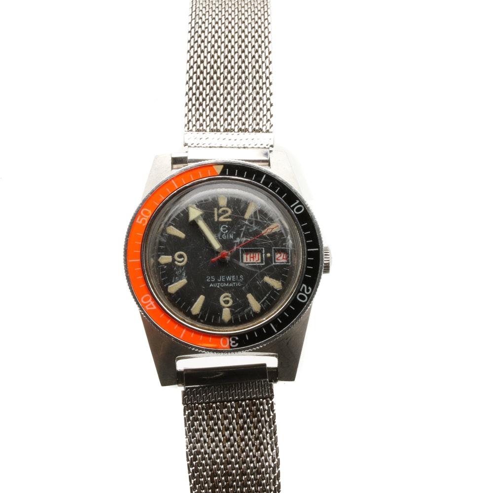 Silver Tone Elgin Wristwatch