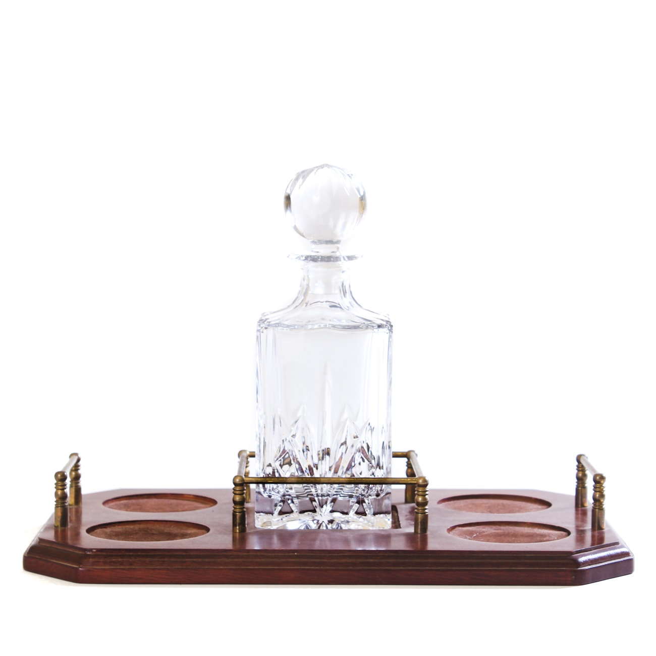 "Marquis by Waterford ""Brookside"" Decanter with Wooden Tray"