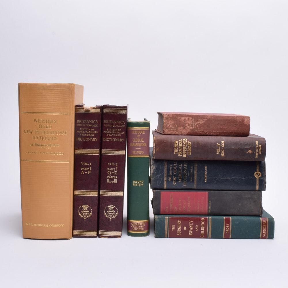 "Vintage and Antique Books Including ""Britannica World Language"""