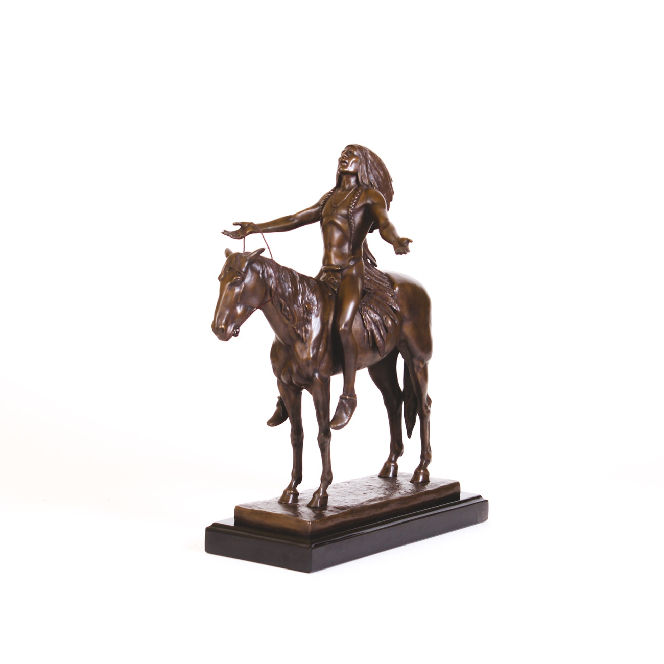 """Bronze Sculpture After C.E. Dallin """"Appeal to the Great Spirit"""""""