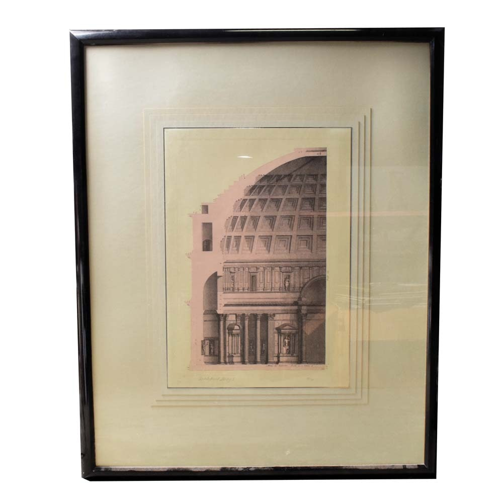 """Limited Edition Lithograph """"Architectural Study I"""""""