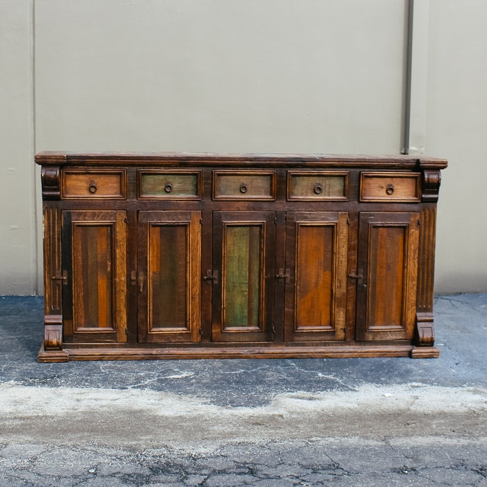 Rustic Style Pine Buffet Cabinet