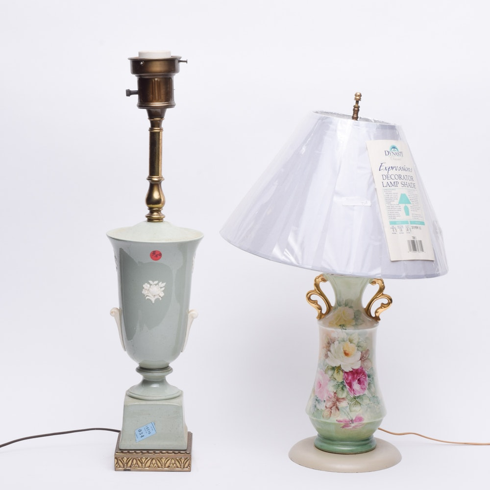 Victorian Style Urn Shaped Table Lamps